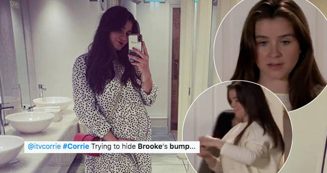 Brooke Vincent's bump was spotted on Coronation Street