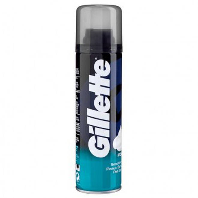 The shaving foam can be bought from Poundland