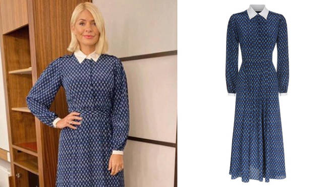 Holly's chic dress costs £525