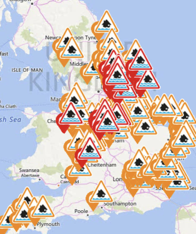 England has over 150 warnings and alerts in place right now