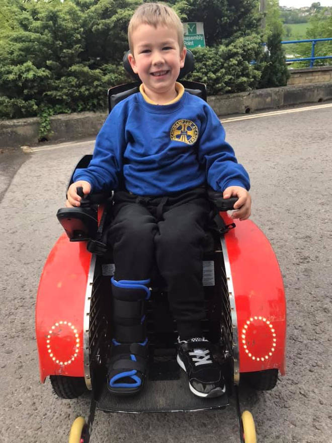 Sebby was made to prove he could walk by Legoland staff