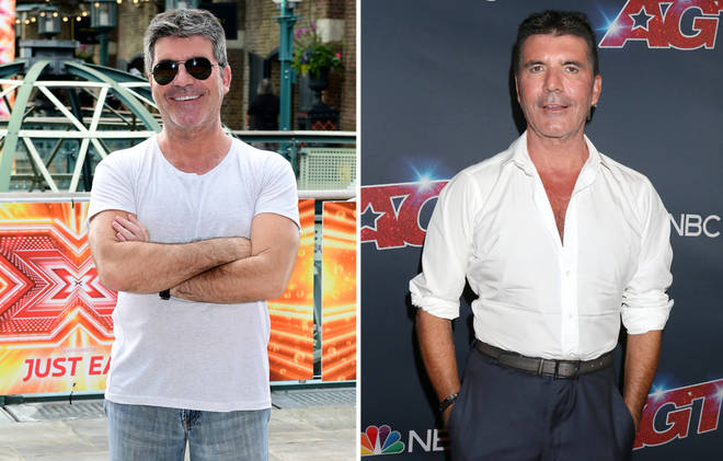 Simon Cowell looked totally different in 2017 (left)