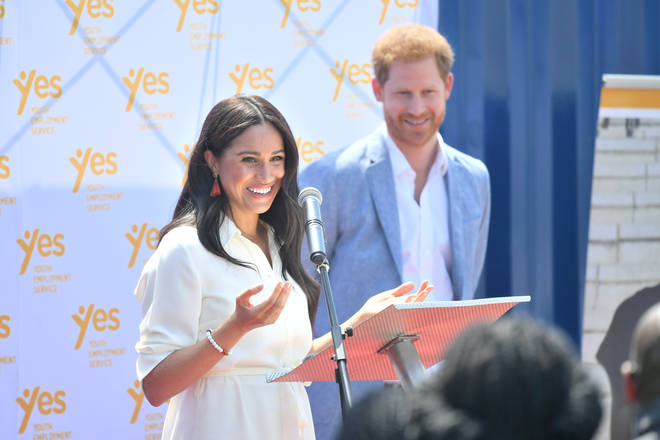 Meghan and Harry were reunited on the last day of the tour