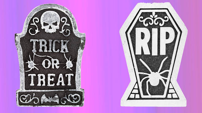 These foam tombstones are £1 each