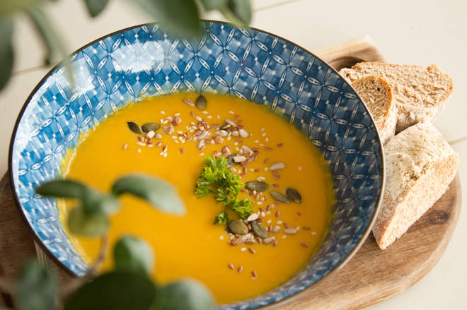 This pumpkin soup recipe is ideal for autumn