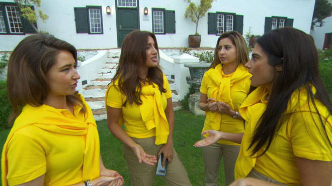 The girls organised a wine-tasting tour in South Africa for their first task