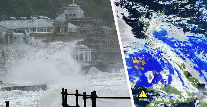 UK weather: Storm Lorenzo to cause travel chaos as five days of rain and wind batter Britain