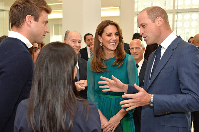 Kate Middleton lovingly touched her husband's arm