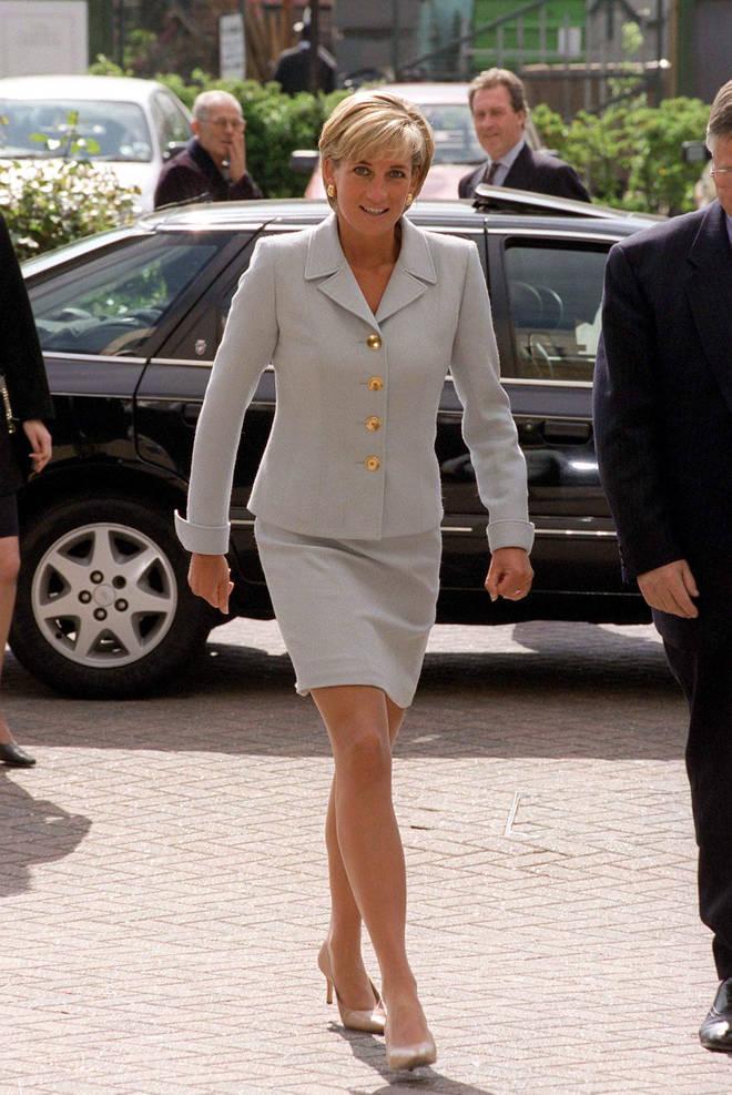 Princess Diana wearing Versace