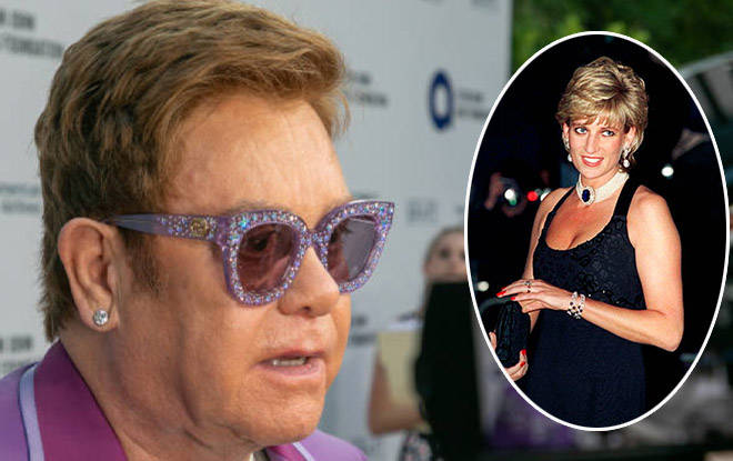 Elton says he and Princess Diana stopped speaking over  Gianni Versace's book