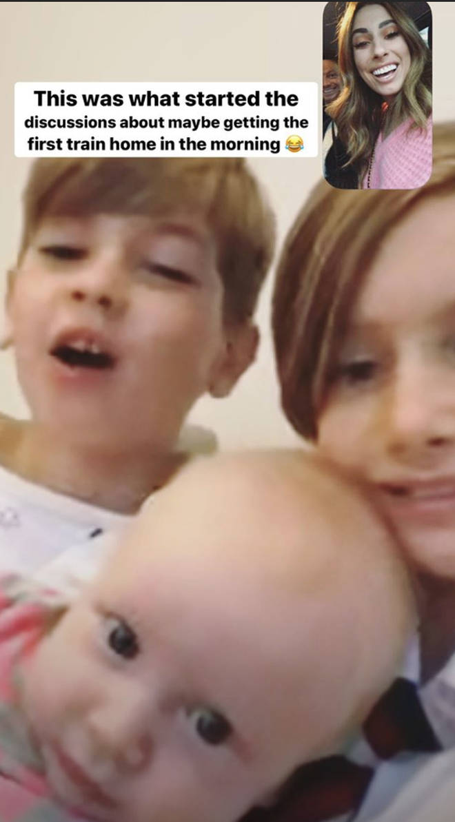 Stacey Solomon pined after her kids while she was away