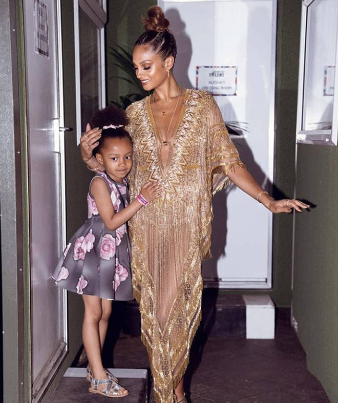 Alesha Dixon kept her first pregnancy a secret until she had given birth