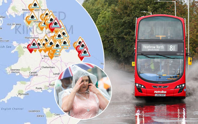 The awful weather is set to worsen in parts of the UK