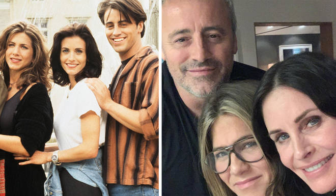 Friends co-stars Jennifer Aniston, Matt LeBlanc and Courtney Cox reunited for dinner this week