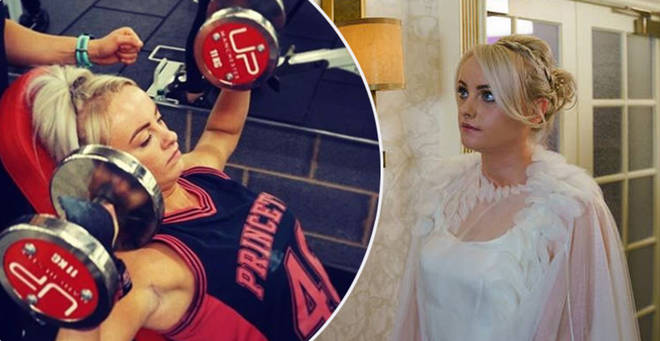 Katie has been hitting the gym since her departure from Corrie