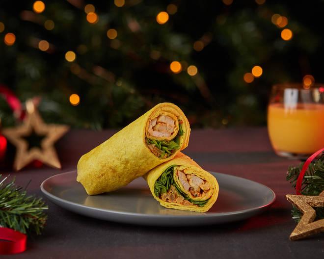 Tesco Turkey Curry & Bhaji Wrap (£2.50)