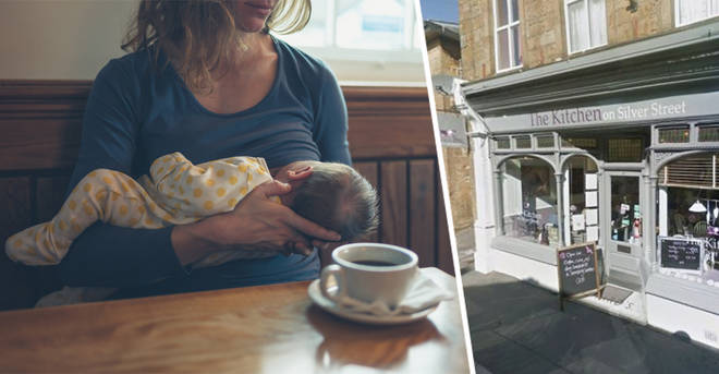 A mum was told to 'cover up' while breastfeeding