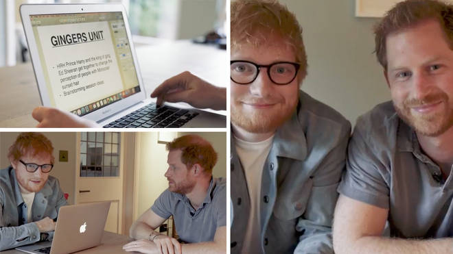Prince Harry and Ed Sheeran team up for hilarious 'gingers unite' video to raise awareness for World Mental...