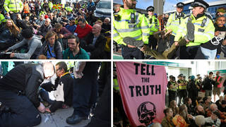 Extinction Rebellion have started their three day protest at London City Airport