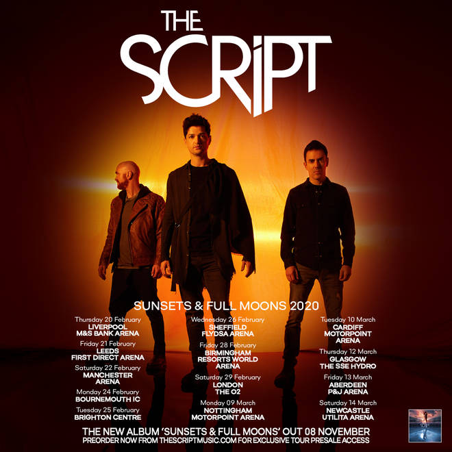 The Script will tour extensively in February and March 2020