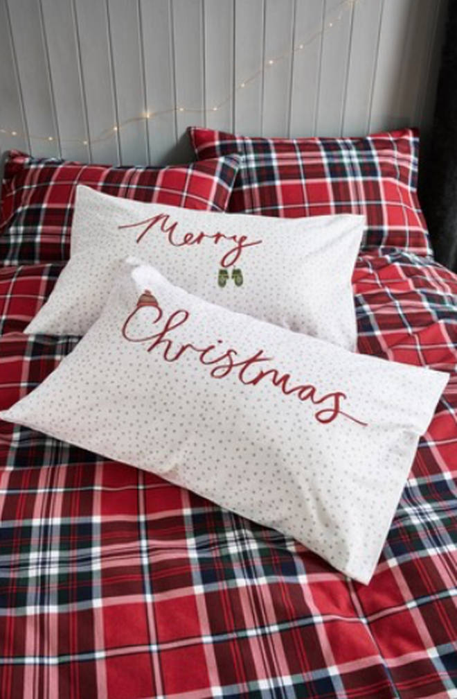 Next's Set of 2 Merry Christmas Pillowcases