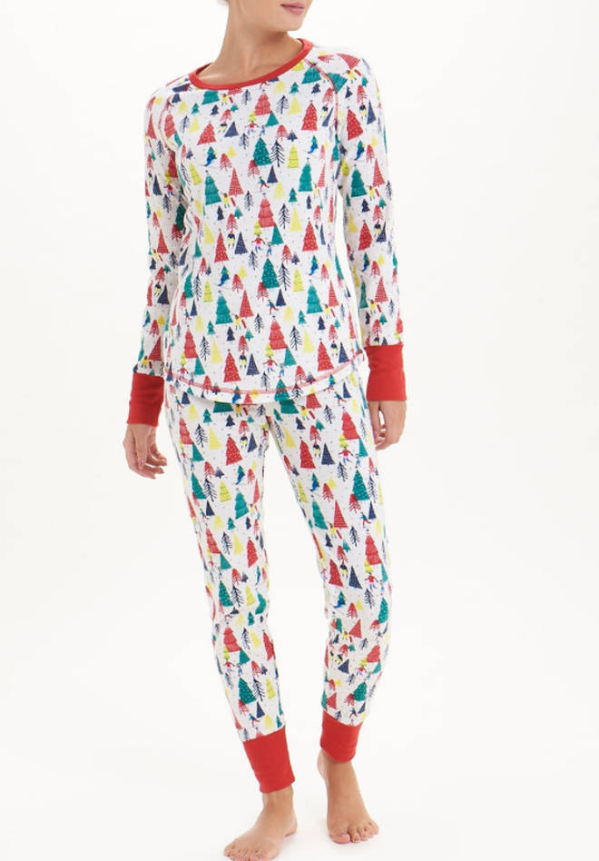 Christmas Tree Pyjama Set, Matalan