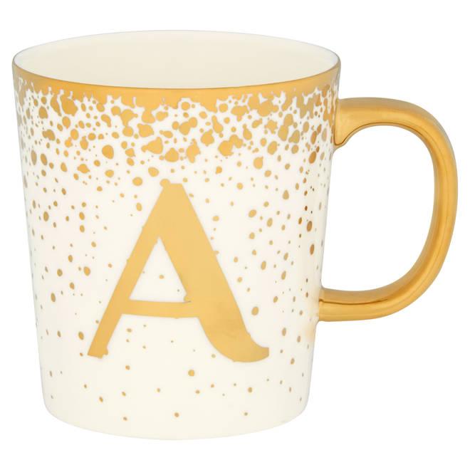 Confetti alphabet mug by Tesco