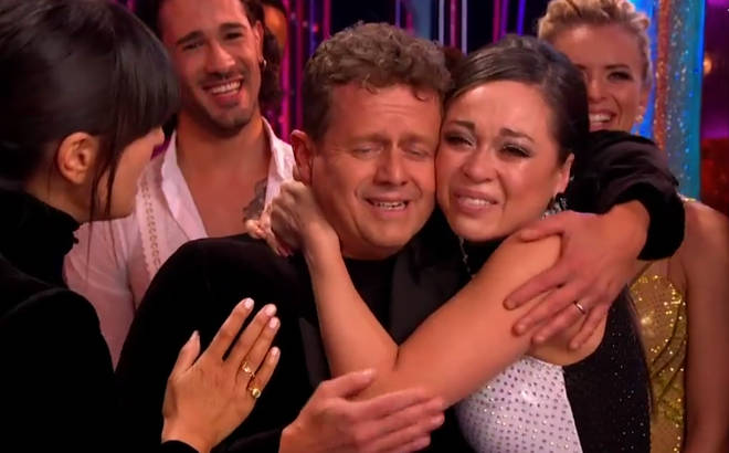 Katya Jones was clearly very emotional following her dance with Mike Bushell.