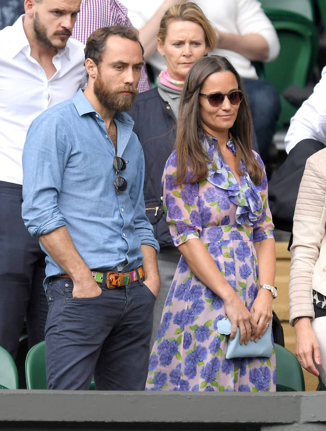 Sister Pippa has also been a huge support to James.