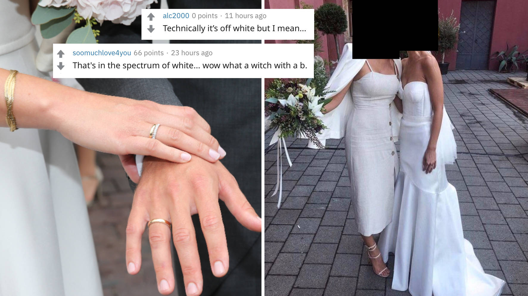 Wedding Guest Blasted For Wearing White To A Wedding And Posing