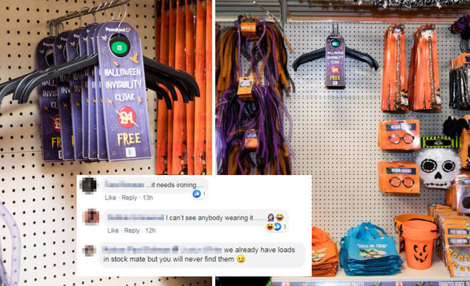 "Poundland is selling Harry Potter style ""invisibility cloaks"" on the run up to Hallows&squot; Eve."