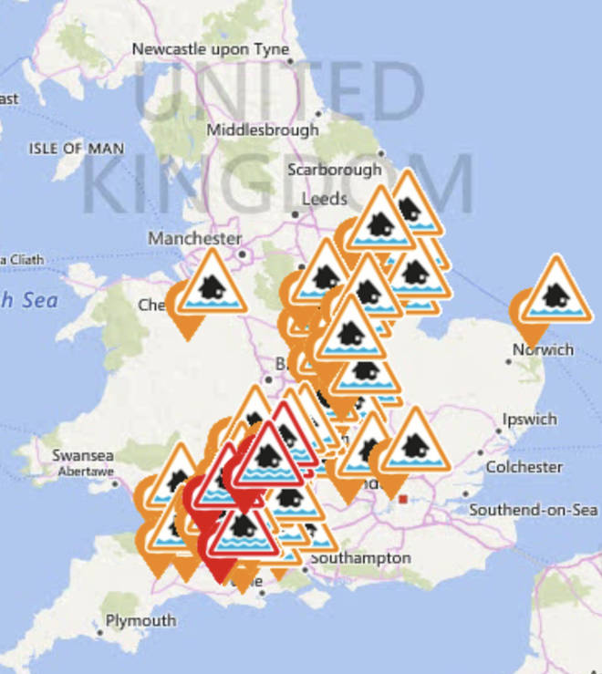 The UK currently has dozens of warnings