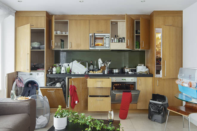 The kitchen is the most germ-ridden room in the home (stock image)