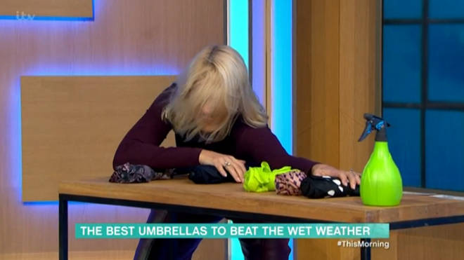 Holly Willoughby y had to intervene to stop the samples from flying