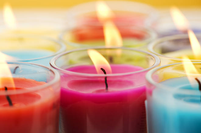 It is unlikely that breathing in scented candles in moderation will cause any health issues (stock image)