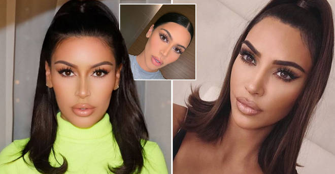 This beauty blogger (left) has been mistaken for Kim Kardashian (right)