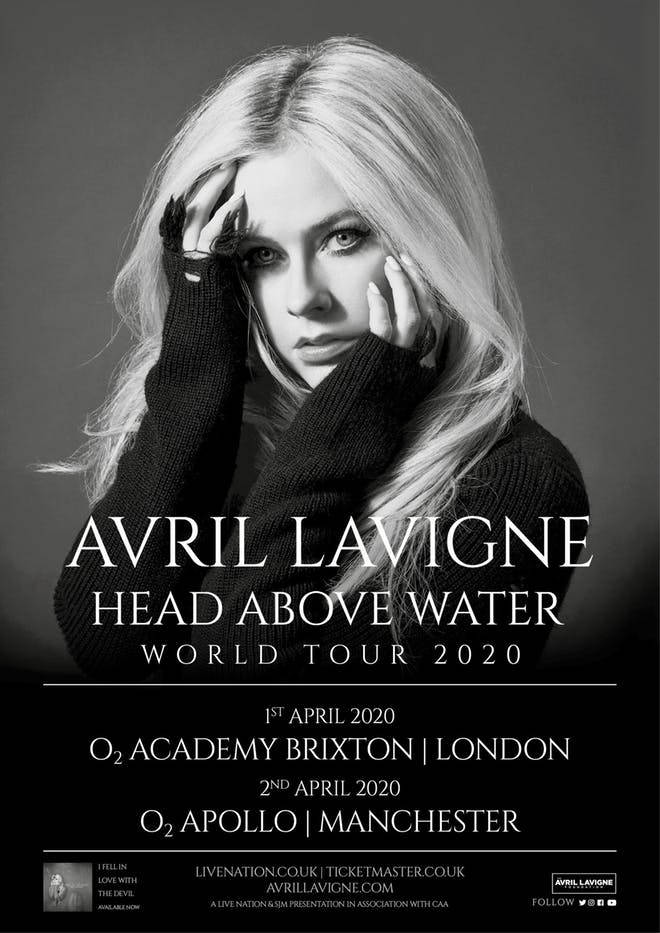 Avril Lavigne is coming to the UK next year