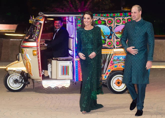The royal couple arrived in a Tuk Tuk car