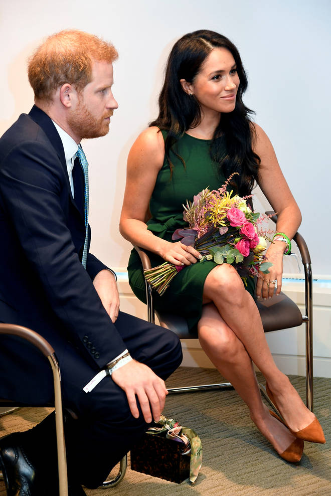 Harry and Meghan attended this year and she wore a green dress