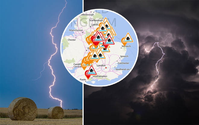 UK to be ravaged by a whopping four days of thunder and lightening starting tomorrow