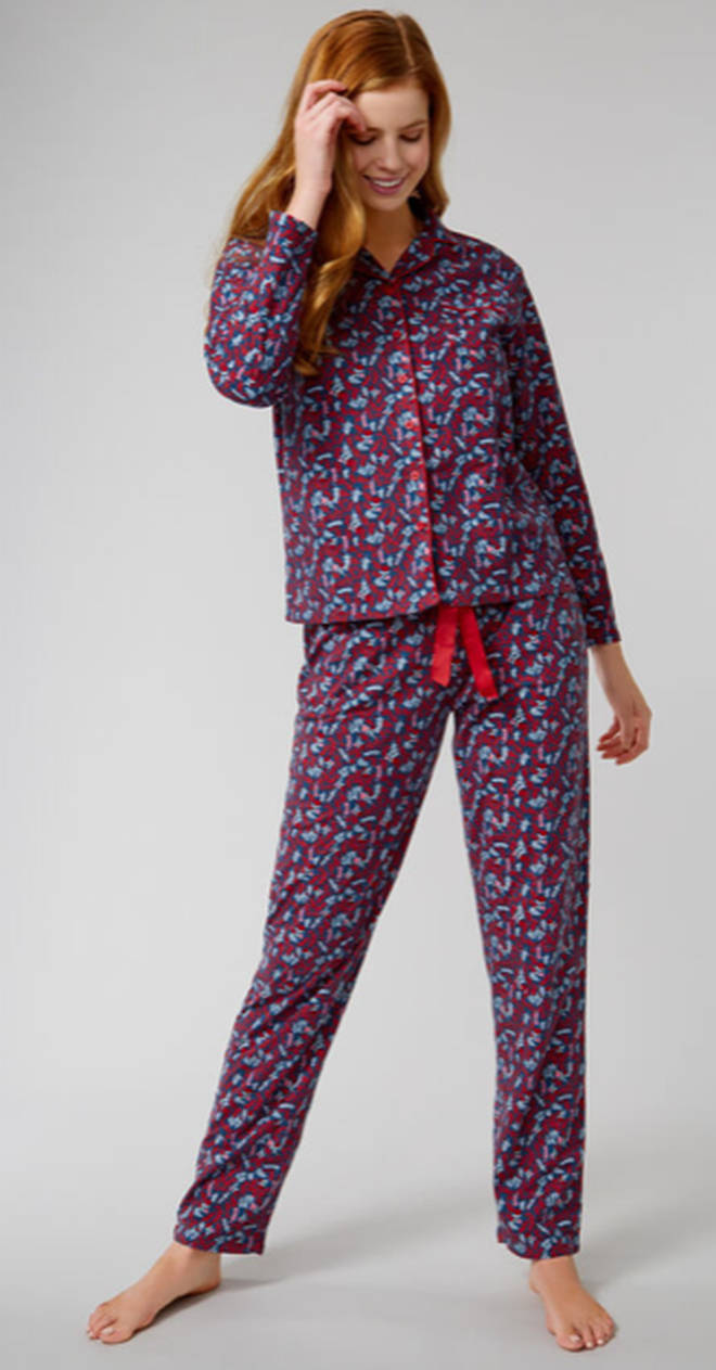 Winter floral PJs in a bag by Boux Avenue