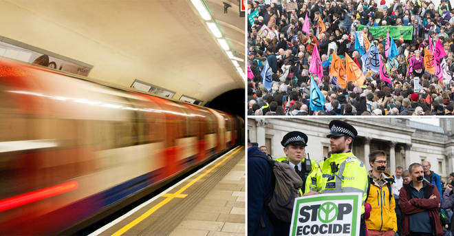 The Extinction Rebellion has hit the Underground