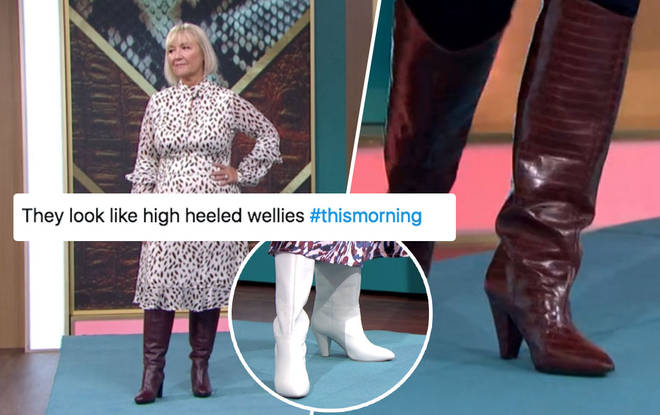 the boots didn't go down well with viewers