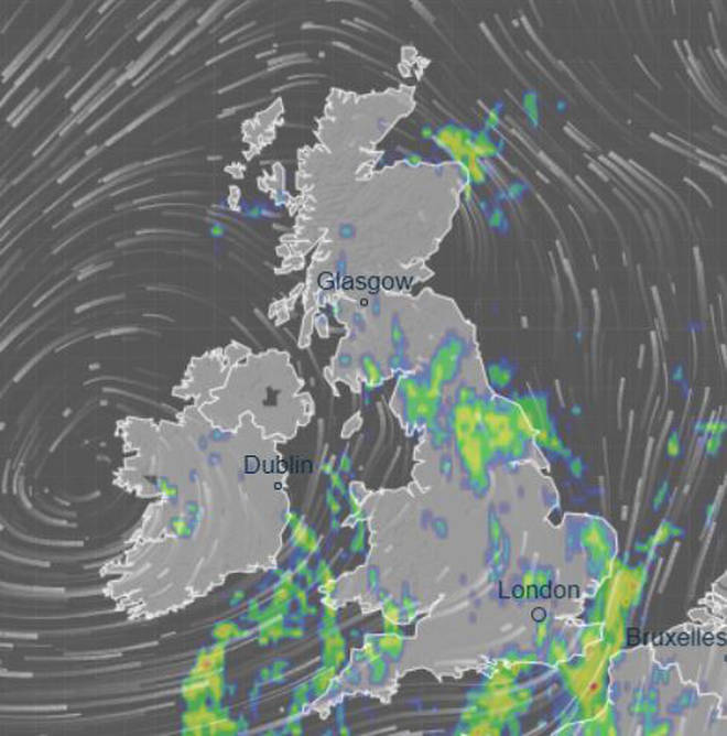 This weekend won't be a pleasant one for us Brits, with the south being hit the worst