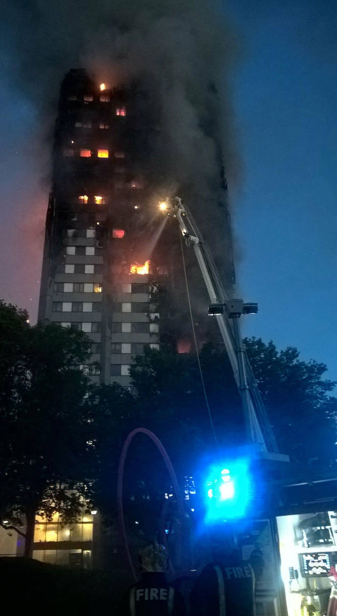 The Grenfell tower disaster in 2017