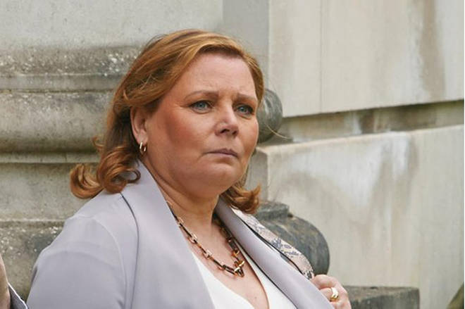 Joanna Scanlan is playing the character of Angela Griffiths