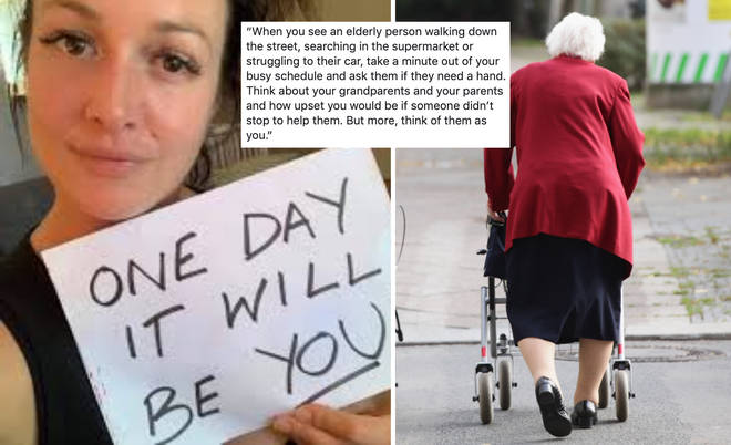 Adele described two heartbreaking incidents in which pensioners were confused, but no one offered any help.