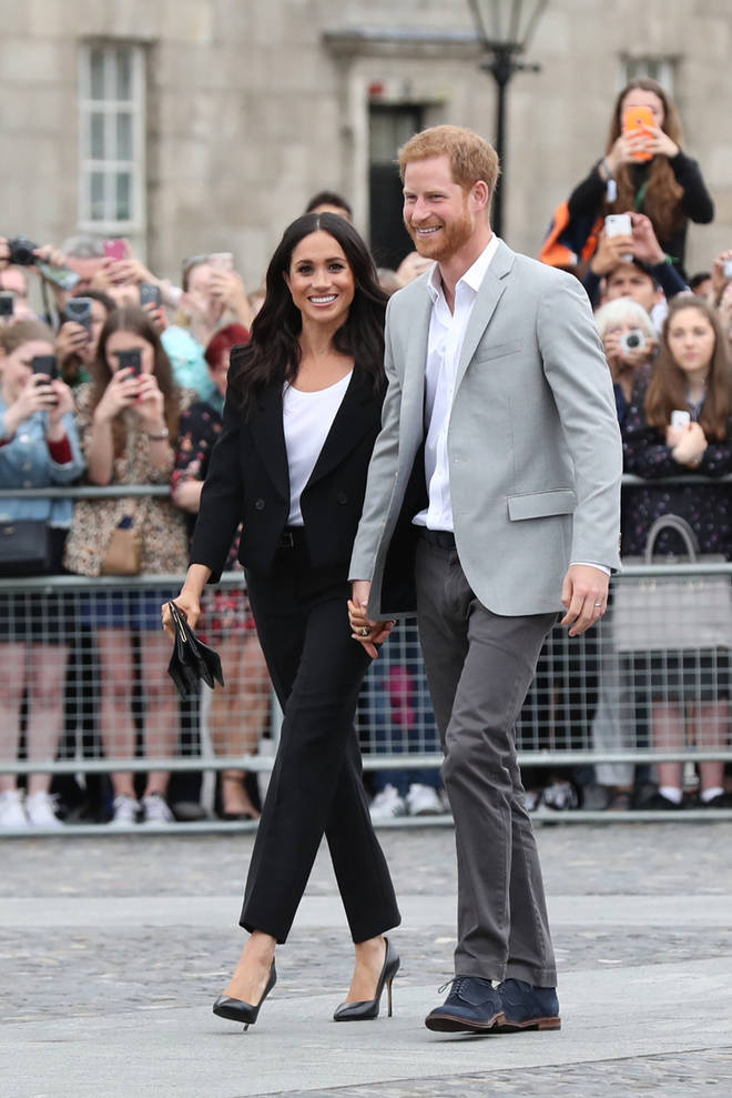 Meghan Markle and Prince Harry shared a sweet wedding photo with their fans.