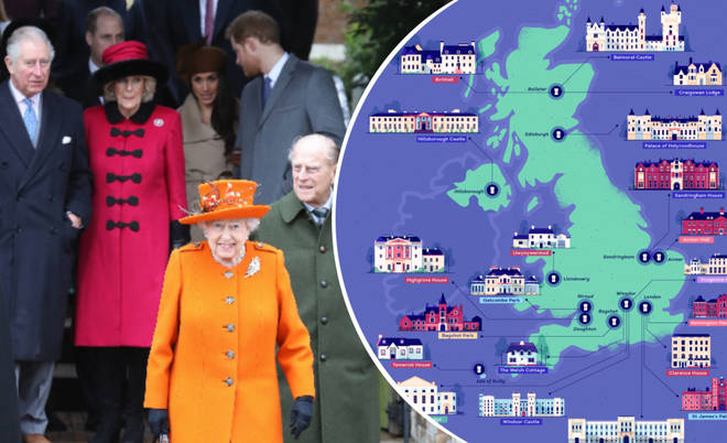 These are all the houses owned by the British Royal Family.
