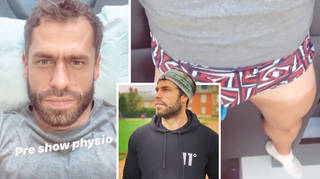 Kelvin Fletcher delights fans with a cheeky snap of his pants.